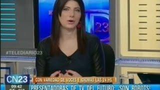 Presentadora de TV molesta con la llegada de los robots presentadoras