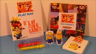 2013 DESPICABLE ME 2 SET OF 4 HARDEE'S COOL KID'S MEAL