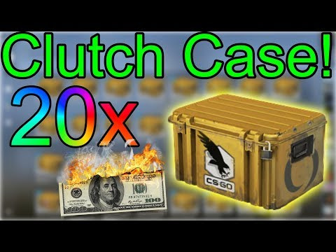 CS:GO Case Opening! 20x clutch case! rip money or rip money? :)