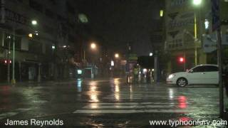 Typhoon Morakot Smashes Taiwan - Storm Chaser Video