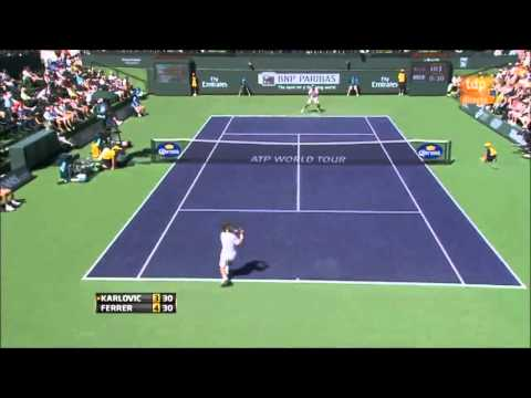 Karlovic vs  Ferrer ATP Masters 1000 Indian Wells part 1/2