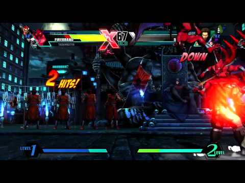 Ultimate Marvel vs Capcom 3 'Firebrand, Taskmaster, Viewtiful Joe vs Hawkeye, Dr.Doom, Spencer' [HD]