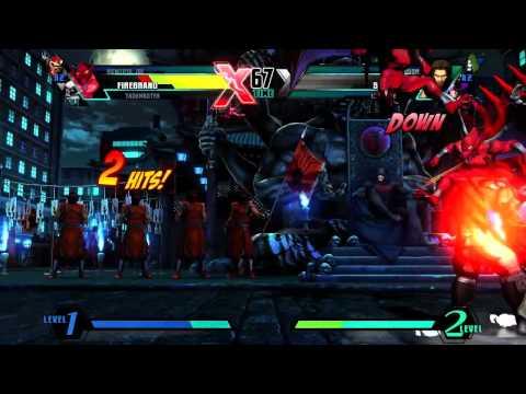 Ultimate Marvel vs Capcom 3 'Firebrand, Taskmaster, Viewtiful Joe vs Hawkeye, Dr.Doom, Spencer' [HD]