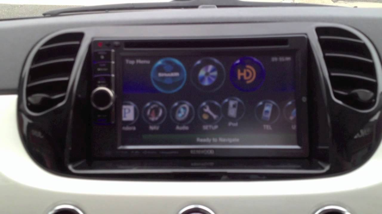 2012 fiat 500 custom install a kenwood dnx6990hd double din navigation radio youtube. Black Bedroom Furniture Sets. Home Design Ideas