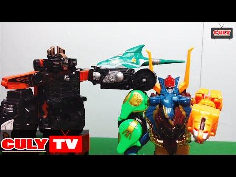 robot siêu thú gao chúa đấu với siêu nhân cơ động đánh khủng long bay phá hoại