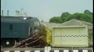 Train Crashing Into Nuclear Flask At 100 Mph!