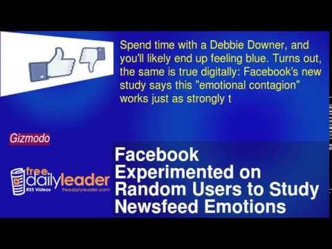 Facebook Experimented on Random Users to Study Newsfeed Emotions