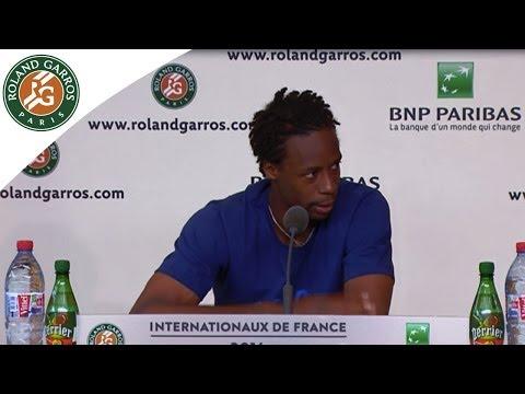 Conférence de presse G.Monfils Roland Garros 1/8