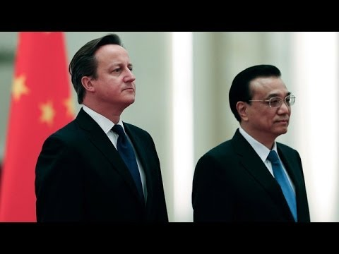 David Cameron in China to promote UK trade