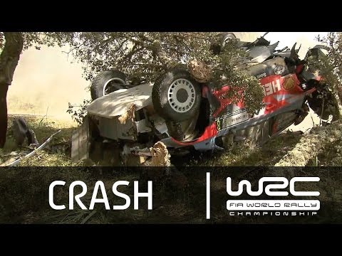 Juho Hanninen Big Crash @ 2014 WRC Italia
