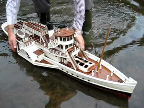 RC Steam Boat Catches Fire