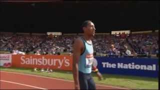 Ethiopia's Mohammed Aman at the 800 meters race in Birmingham, UK - June 30 2013.