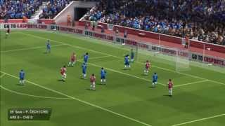 FIFA 14 Arsenal Vs. Chelsea Gameplay (PS3/Xbox 360)