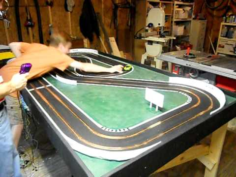 Homemade Wooden Slot Car Track - YouTube