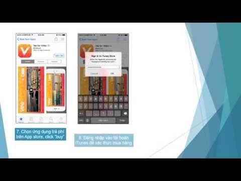 Hướng dẫn add thẻ TRUSTcard vào App Store và Mua ứng dụng in app