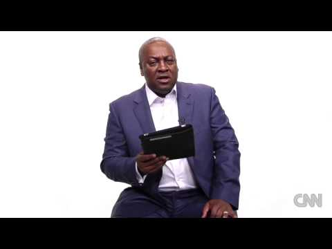 President Mahama on CNN's iReport