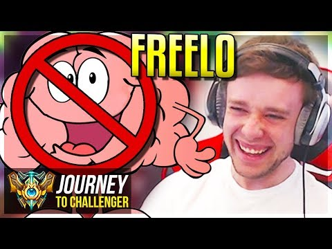 THIS CHAMP = BRAIN OFF, GET FREELO!!!!! - Journey To Challenger | League of Legends