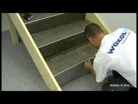 Verlegen von PVC-Belagen auf Treppen - WAKOL D 3410 Kontakto