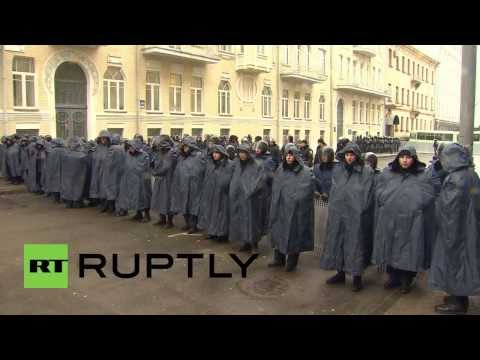 Ukraine: Man dies near scene of protests in snow hit Kiev