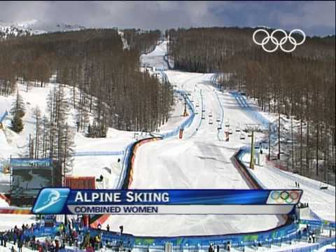 Kostelic - Alpine Skiing - Women's Combined - Downhill - Turin 2006 Winter Olympic Games