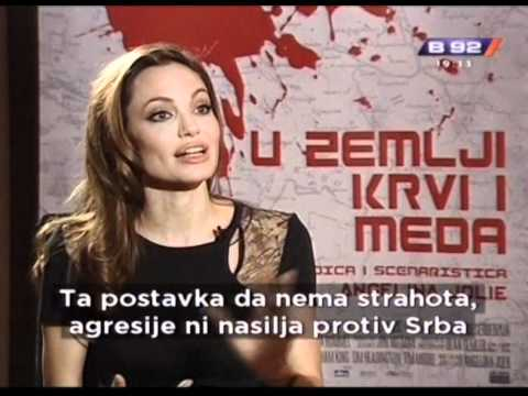 Andjelina Dzoli (Zoli) i Jugoslav Cosic intervju za B92 (Angelina Jolie Interview for Serbian TV)