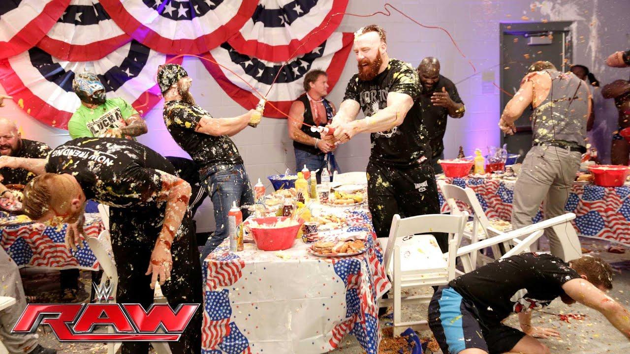 Video Raw 74 Food Fight Erupts Wrestling Inc