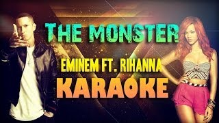 The Monster Eminem Ft Rihanna (Karaoke/Lyrics)