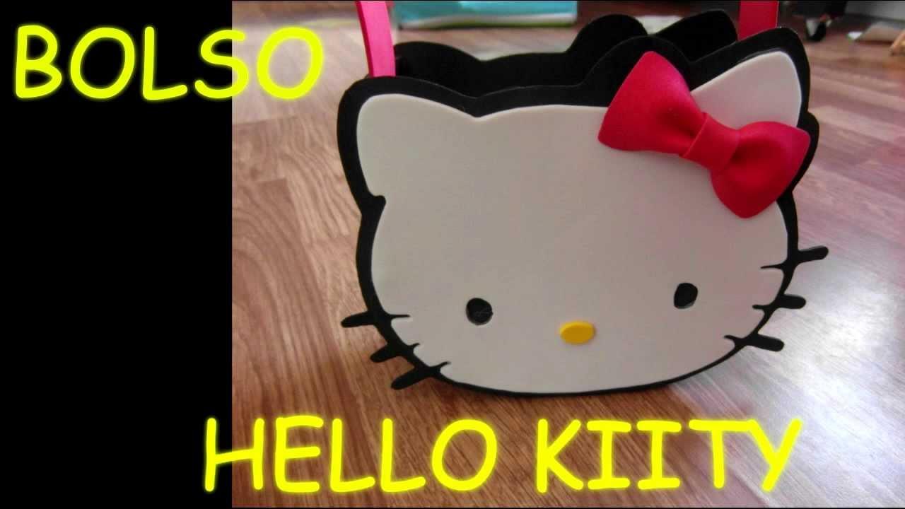 Manualidades como hacer bolso dulcero hello kitty amigo - Cosas de goma eva ...