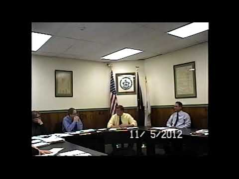 Champlain Village Board Meeting 11-5-12