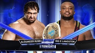 WWE Smackdown Alexander Rusev Vs Big E Langston Full Match