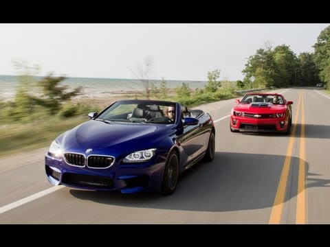 2013 Chevrolet Camaro ZL1 Convertible vs. 2012 BMW M6 Convertible - Comparison Test - CAR and DRIVER