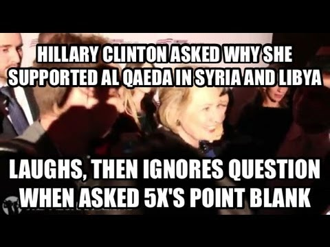 Hillary Clinton Laughs at Supporting Al Qaeda in Syria and Libya