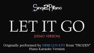 "Let It Go Demi Lovato (Piano Karaoke Version) From ""Frozen"""