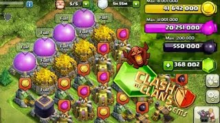 CLASH OF CLANS MOST GEMS! MOST RESOURCES! MOST