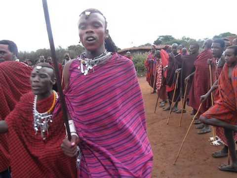Young Masai at male circumcision ceremony