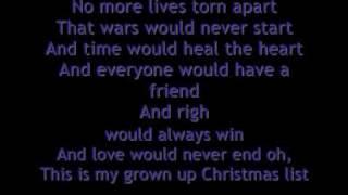My Grown Up Christmas List Kelly Clarkson