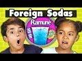 KIDS DRINK FOREIGN SODAS Kids Vs Food