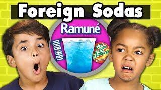 KIDS DRINK FOREIGN SODAS! | Kids Vs. Food