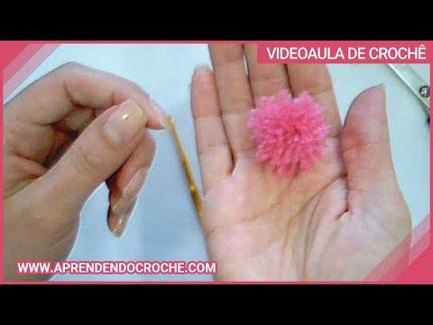 Aprenda a fazer um pompom de croche - Aprendendo Crochê