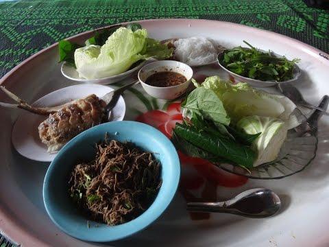 ชิมพันปลาลาวแท้ๆ traditional Laos food