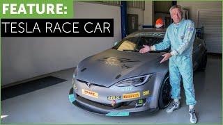 Tesla Race Car! Tiff Needell drives The Electric Tesla GT P100DL