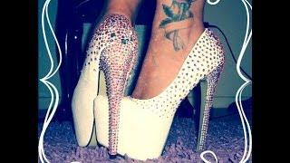 Decoración de zapatos con cristal