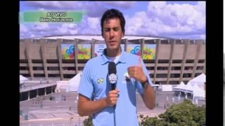Telespectadores do Alterosa Esporte acreditam na vitória do Brasil. Repórter desconfia e mostra receio com grupo unido da Alemanha.