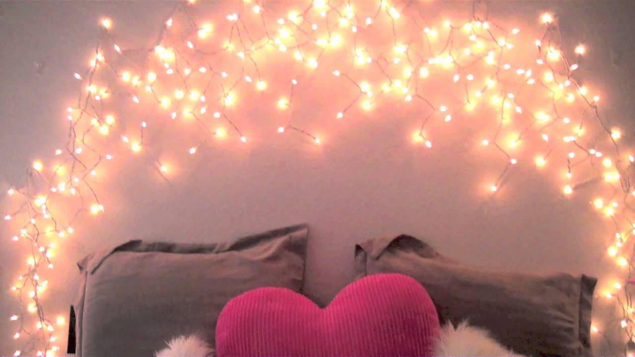 Tumblr rooms christmas lights - Diy Glowing Headboard Youtube