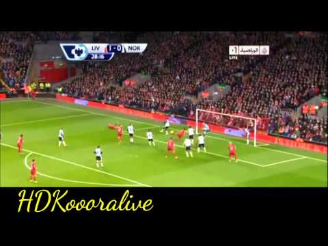Liverpool vs Norwich City 5-1 || Luis Suarez Second Goal || 04/12/2013 || Premier League