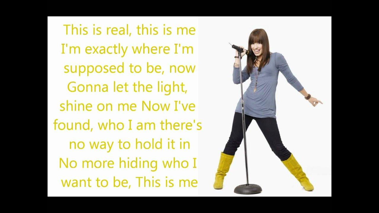 This is me - Demi Lovato & Joe Jonas - Lyrics - YouTube