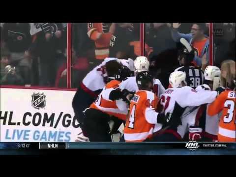 Washington Capitals VS Philadelphia Flyers Brawl - November 1st, 2013