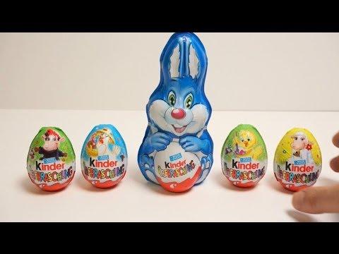 Trò chơi bóc trứng socola, 4 đồ chơi bất ngờ trong trứng