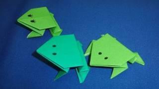 אוריגמי צפרדע קופצת