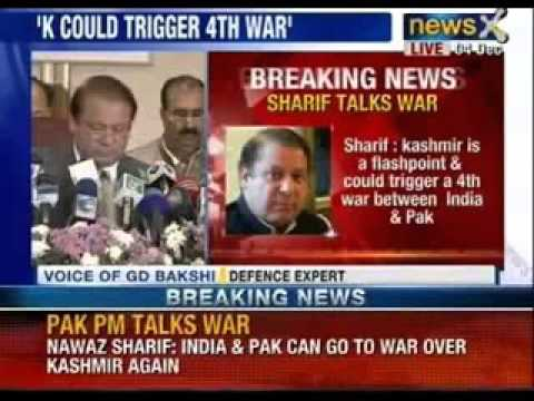 Nawaz Sharif : Kashmir a flashpoint for another India-Pak war - NewsX